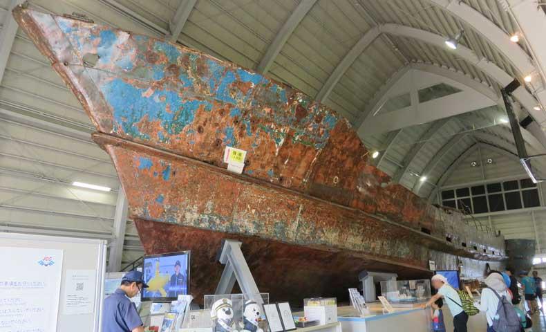 横浜防災フェア2019海上保安資料館横浜館にある北朝鮮工作船