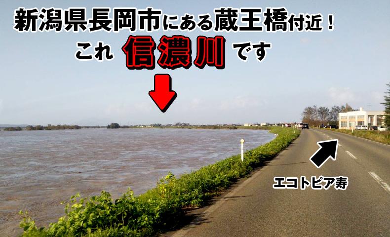 2019年台風19号の信濃川