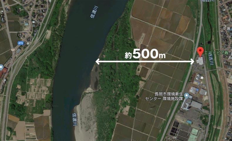 2019年台風19号の信濃川 エコトピア寿から川端まで