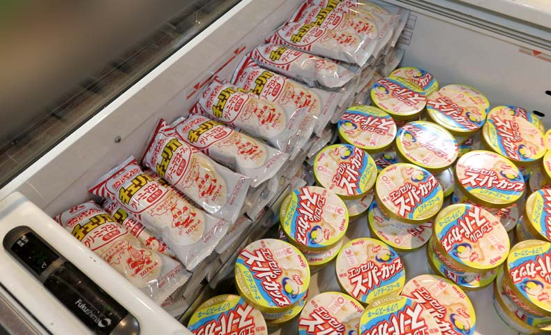クリーミーマヨネーズ味アイスがズラリ