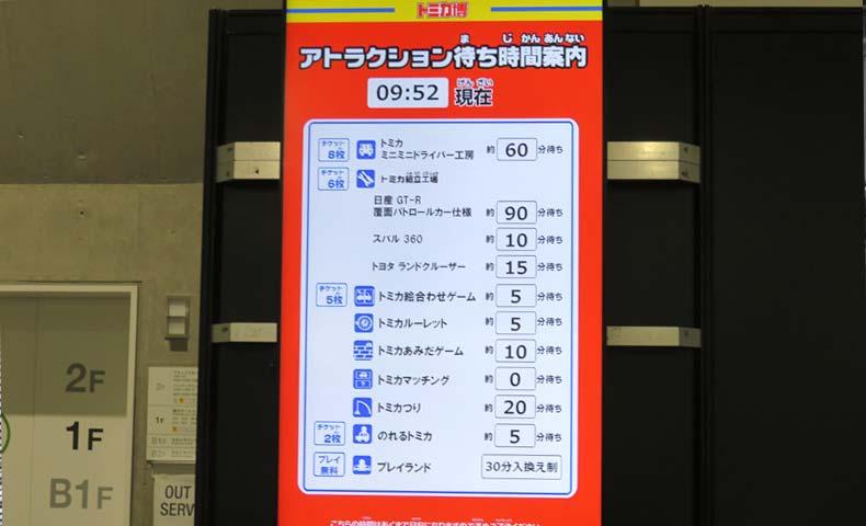 トミカ博2019横浜の当日チケット前アトラクション待ち時間