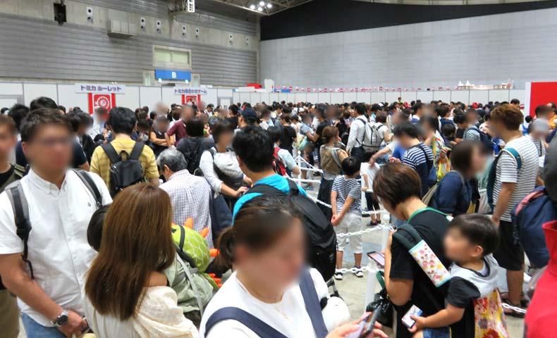 トミカ博2019横浜会場内混雑の様子