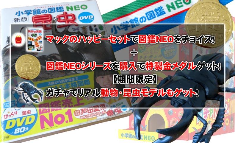 小学館図鑑NEOシリーズは特典いっぱい